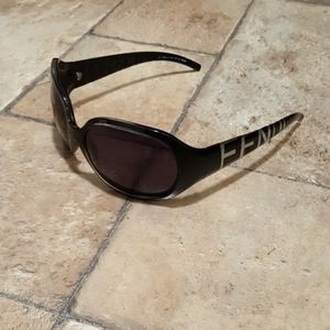 SUPER RARE! FENDI SUNGLASSES Oversized Spelled Out